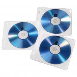 Hama CD/DVD Ring Binder Sleeves, 50 pcs./pack, white