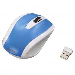 Hama bezdrátová optická myš AM-7200, bílo-modrá