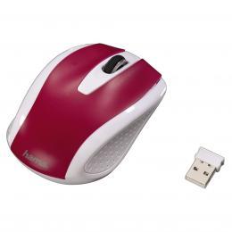 Hama bezdrátová optická myš AM-7200, bílo-èervená