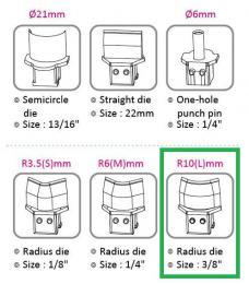Výsekový rádius pro KW triO 9521 10 mm
