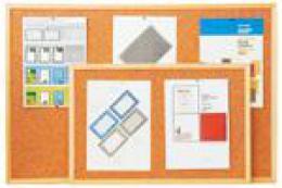 Korková jednostranná tabule Economy 90 x 60 cm