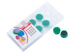 Magnety ARTA prùmìr 16mm, zelené (10ks v balení)