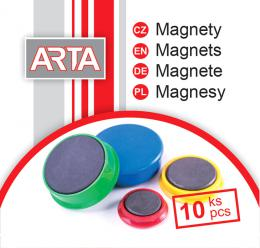 Magnety ARTA prùmìr 30mm, žluté (10ks v balení)
