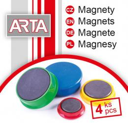 Magnety ARTA prùmìr 40mm, žluté (4ks v balení)