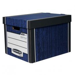 Archivaèní kontejner Fellowes Bankers Box Woodgrain modrá (2ks) - zvìtšit obrázek