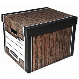 Archivaèní kontejner Fellowes Bankers Box Woodgrain hnìdá (2ks)