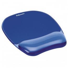 Podložka pod myš a zápìstí Fellowes CRYSTAL gelová modrá