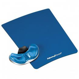 Podložka pod myš a zápìstí Fellowes Palm Health-V CRYSTAL gelová Microban modrá - zvìtšit obrázek