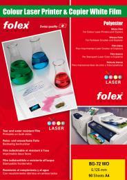 FOLEX BG 72 WO DIN A4 - 50 listù