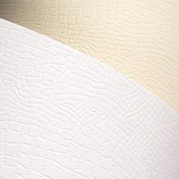 ozdobný papír Borneo bílá 220g, 20ks