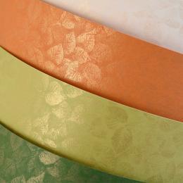 ozdobný papír Listy oranžová 250g, 20ks