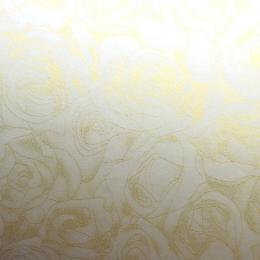 ozdobný papír Rùže ivory 100g, 50ks