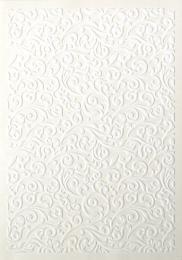 ozdobný papír Flock bílá 220g, 5ks