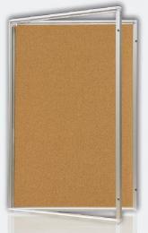 Vitrina s dvoukøídlým vertikálním otevíráním 120x180cm,korkový.vnitøek, mod.2