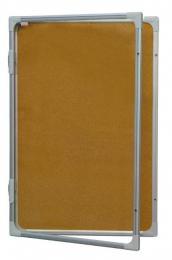 Vitrina s vertikálním otevíráním 90x60cm, korkový vnitøek, se zámkem