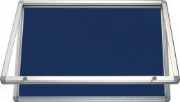 Horizontální vitrina 150x100 cm, zámek, filcový vnitøek - modrý