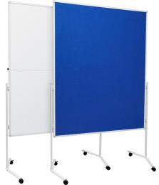 Moderaèní textilní tabule modrá 120x150 cm
