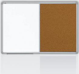Kombinovaná tabule 60x90 korek/magnet., rám ALU23
