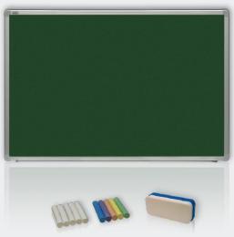 Zelená magnetická tabule pro popis køídou 100x200 - keramická, ALU23