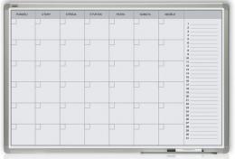 Mìsíèní plánovací tabule 60x90 - hliníkový rám