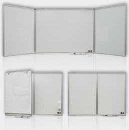 Triptych keramický bílý 150x100/300