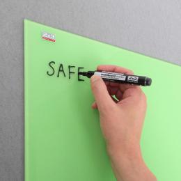 Sklenìná magnetická tabule 150x100 cm - zelená