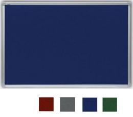 Filcová modrá tabule v hliníkovém rámu 90x120 cm