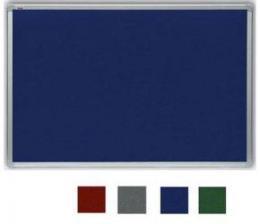 Filcová šedá tabule v hliníkovém rámu 100x150 cm