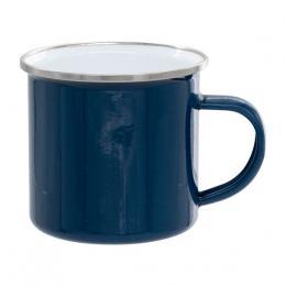 Smaltovaný celobarevný plechový hrnek 12 Oz - modrý