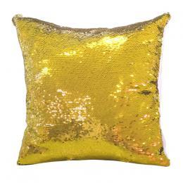 Polštáø s flitry 40 x 40 cm - zlato-bílá