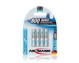 Ansmann maxE Micro NiMH 4xAAA 800mAh BL4, 4 kusy mikrotužkové baterie