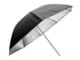 Linkstar PUR-102H odrazný deštník 102cm (záøivá støíbrná/èerná)