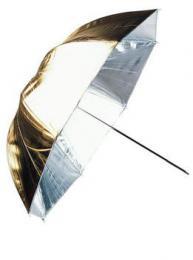 Linkstar PUK-102GS odrazný deštník oboustranný 102cm (zlatá/støíbrná)