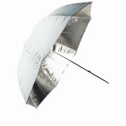Linkstar PUK-102SW odrazný deštník oboustranný 102cm (støíbrná/bílá)