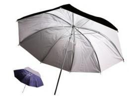 Linkstar PUK-102WB odrazný deštník oboustranný 102cm (bílá/èerná)