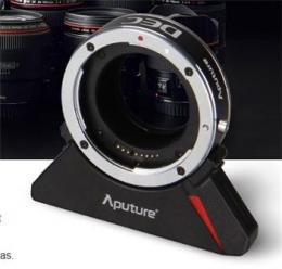 Aputure dálkovì ovládaný DEC adaptér pro objektivy Canon na úchyt E-mount