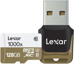 Lexar micro SDXC UHS-II (Class 10) s USB �te�kou 128 GB