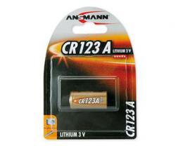 Ansmann CR123A lithiová baterie 3V/1400 mAh, 1 ks