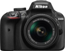 NIKON D3400 Black   18-55 VR AF-P