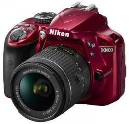 NIKON D3400 Red   18-55 VR AF-P