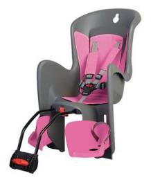 Polisport Bilby dìtská sedaèka zadní samonosná, šedo-rùžová