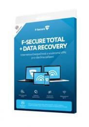 F-Secure TOTAL FAMILY DR, 5 zaøízení / 1 rok; Data Recovery 1 zaøízení / 1 rok, krabièka