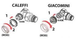 Danfoss adaptér 014G0263, pro ventilová tìlesa typu Caleffi/Giacomini