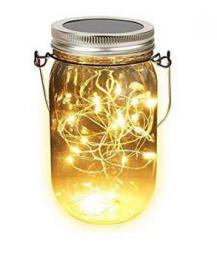 iQtech LEDsolar sklenice, solární venkovní svìtlo, 1 W, teplá bílá