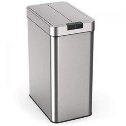 iQtech Papallona 49 l, bezdotykový odpadkový koš hranatý, støíbrný nerez