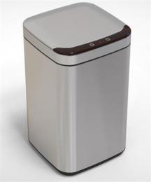 iQtech Deodorizér 10 l, odpadkový koš bezdotykový, hranatý, støíbrný