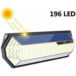 iQtech iPro 196 solární venkovní svìtlo, 196 LED, senzor, bezdrátové