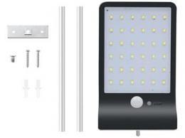 iQtech Solar 36 solární venkovní svìtlo, 36 LED, senzor, bezdrátové, èerné