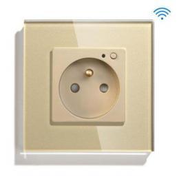 iQtech SmartLife JW04-GD, chytrá Wi-Fi zásuvka s kolíkem, 16 A, mìøení spotøeby, zlatá