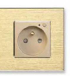 iQtech SmartLife JW04A-G, chytrá Wi-Fi zásuvka s kolíkem, 16 A, mìøení spotøeby, Hliník zlatá - zvìtšit obrázek